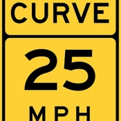 Curve speed advisory