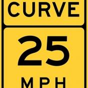 Curve speed advisory