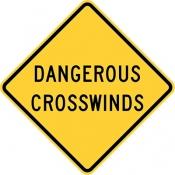 Dangerous crosswinds area