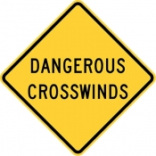 Dangerous crosswinds area