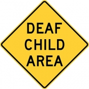 Deaf child ahead area