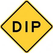 Dip in the road