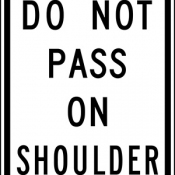 Do not pass on shoulder