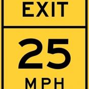 Exit speed advisory