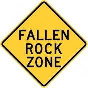 Fallen rock zone