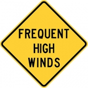 Frequent cross winds area