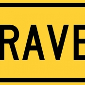 Gravel ahead