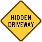 Hidden driveway warning