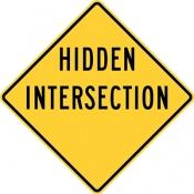 Hidden intersection warning