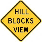 Hill blocks view
