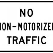 No non-motorized traffic