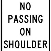 No passing on shoulder