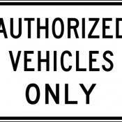 No unauthorized vehicles