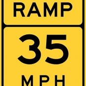 Ramp speed advisory