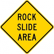 Rock slide area