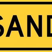 Sand on road area