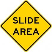 Slide area - rock or mud