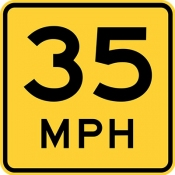 Speed advisory