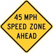 Speed zone ahead