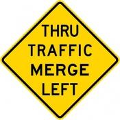 Thru traffic merge left