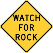 Watch for rock