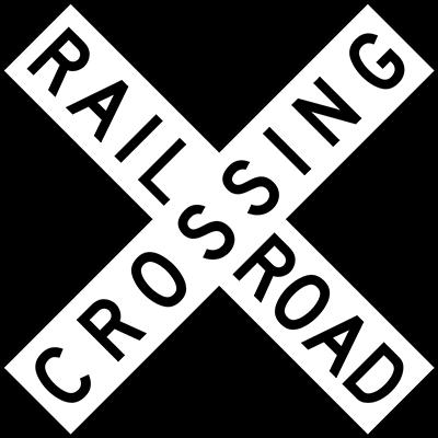 railroad crossing warning sign