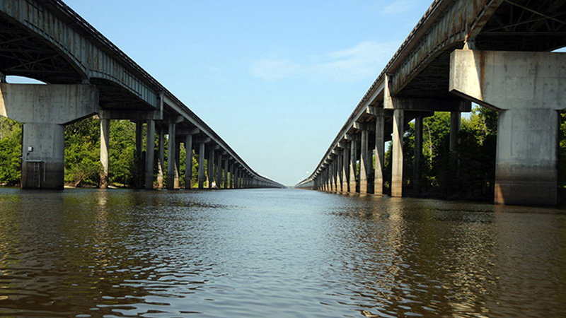 Motorcycle Trip Over Atchafalaya Bridge